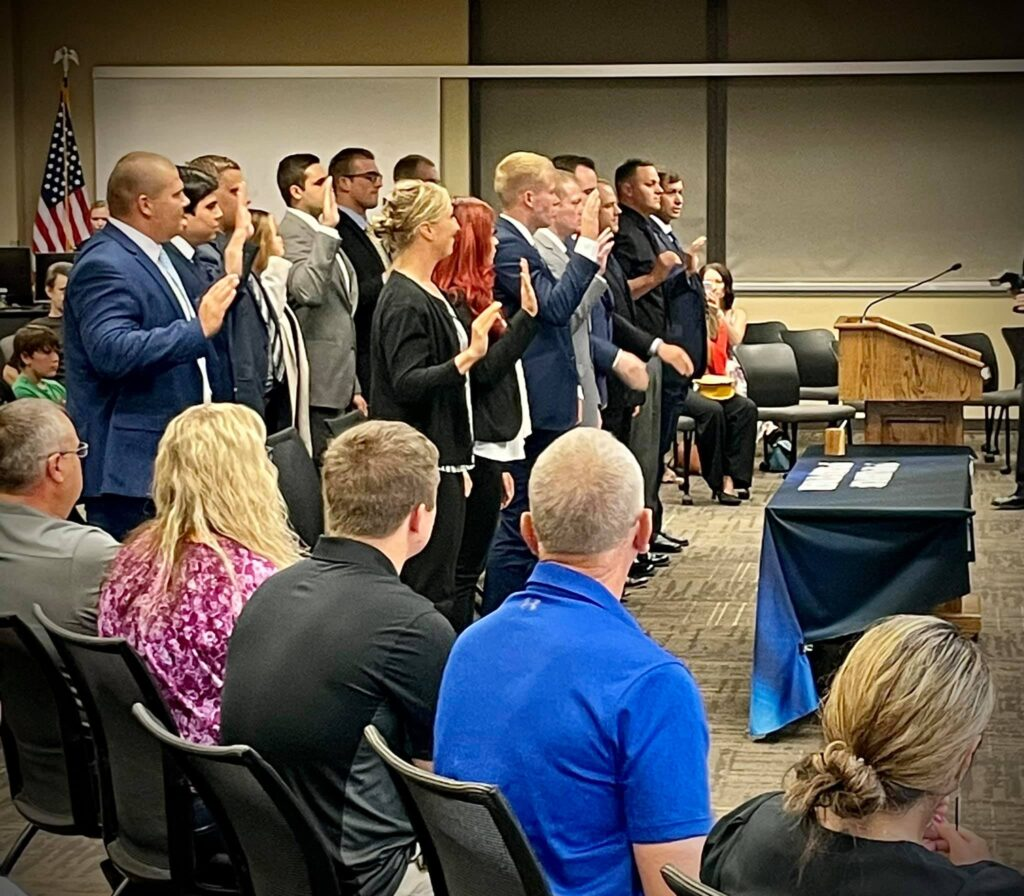 Sioux Falls police department swear in